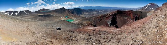 Blue Lake, Central Crater, Emerald Lakes, Red Crater, Mt. Ngauruhoe
