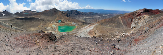 Blue Lake, Central Crater, Emerald Lakes, Red Crater